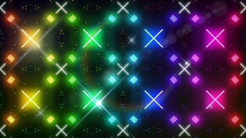 LED Light Kaleidoscope C3BoK6 HD Stock Video Footage