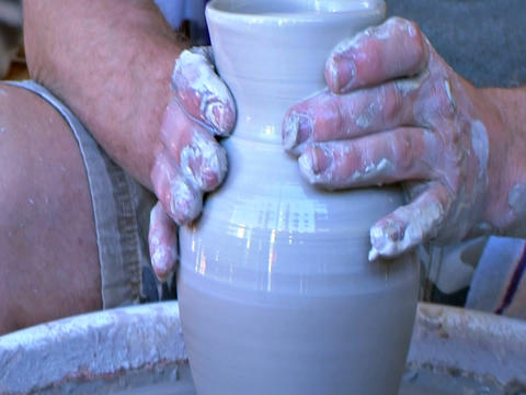 Hand made pottery Stock Video Footage