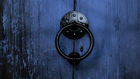 Old Wooden Door Opening HD Stock Video Footage