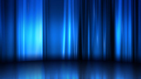 Curtain Stage Background Curtain Stage natural commerce blue silk CG動画素材
