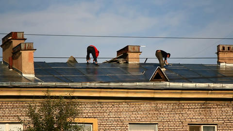 Roof repairs Stock Video Footage