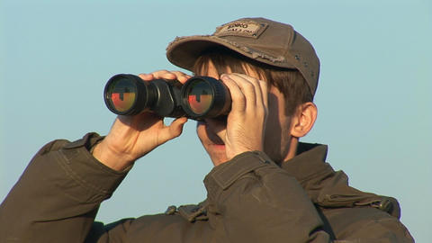 binocular 2 Stock Video Footage
