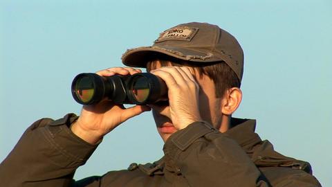 binocular 4 Stock Video Footage