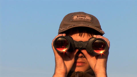 binocular 6 Stock Video Footage