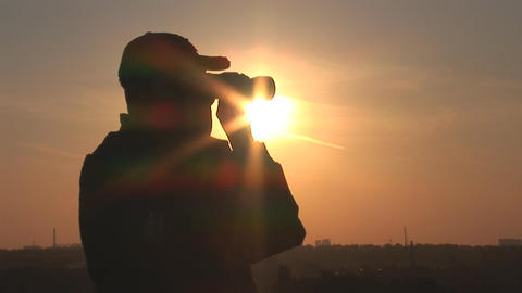 binocular 8 Stock Video Footage