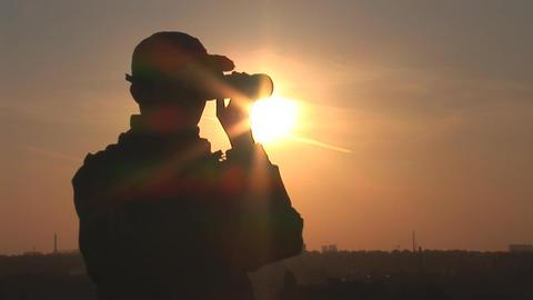 binocular 8 Stock Video Footage