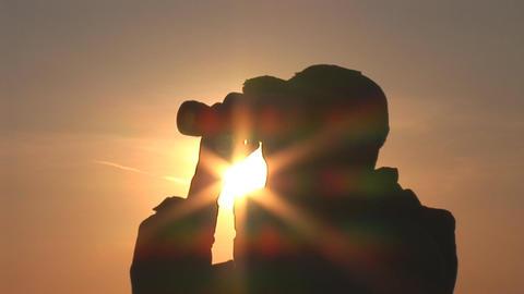 binocular 10 Stock Video Footage