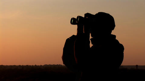 binocular 12 Stock Video Footage
