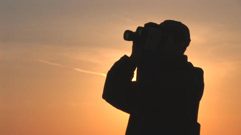 binocular 14 Stock Video Footage