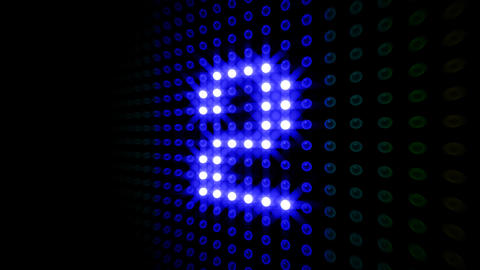 LED Countdown DbR4 HD Stock Video Footage