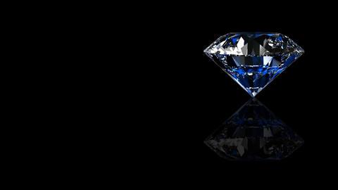 Luxury Jewelry Diamond side blue Stock Video Footage