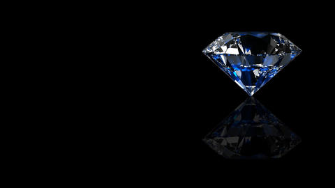 Luxury Jewelry Diamond side blue Animation