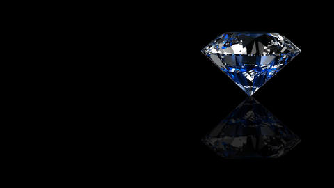 Luxury Jewelry Diamond side blue Stock Video Footage