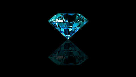 Luxury Jewelry Diamond center blue turquoise Stock Video Footage