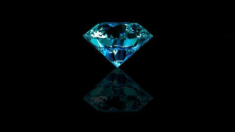 Luxury Jewelry Diamond center blue turquoise Stock Video Footage