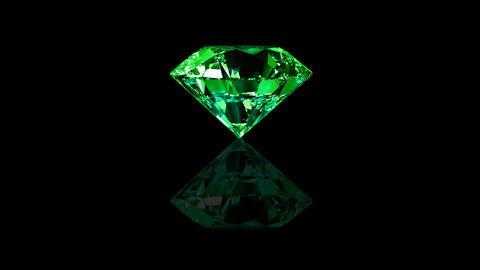 Luxury Jewelry Diamond center green Stock Video Footage