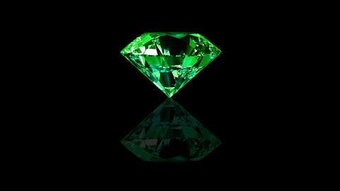 Luxury Jewelry Diamond center green Animation