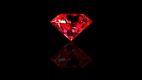 Luxury Jewelry Diamond center red Animation