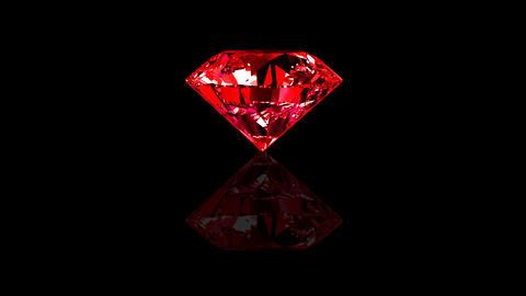 Luxury Jewelry Diamond center red Stock Video Footage