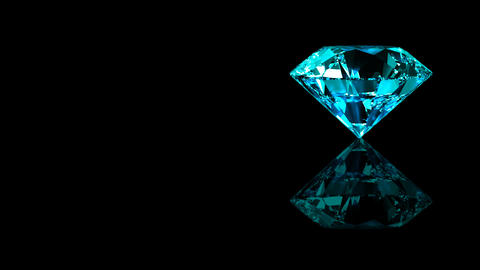 Luxury Jewelry Diamond side blue turquoise Animation