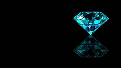 Luxury Jewelry Diamond side blue turquoise Stock Video Footage