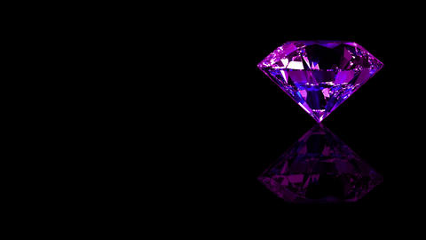Luxury Jewelry Diamond side purple Animation