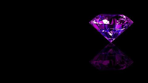 Luxury Jewelry Diamond side purple Stock Video Footage