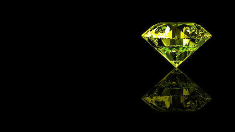 Luxury Jewelry Diamond side yellow Stock Video Footage