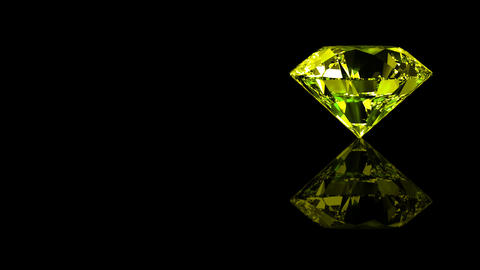 Luxury Jewelry Diamond side yellow Animation