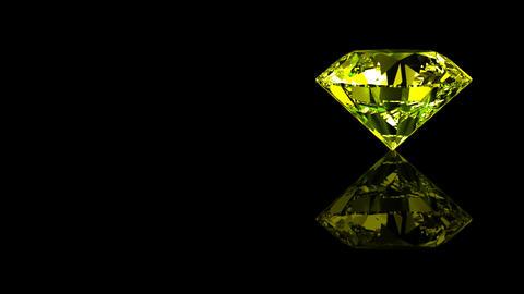 Luxury Jewelry Diamond side yellow Stock Video Footage