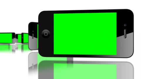 Green screen Smartphone 4G IPhone Advertisement... Stock Video Footage
