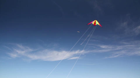 Kite soaring 1 Stock Video Footage
