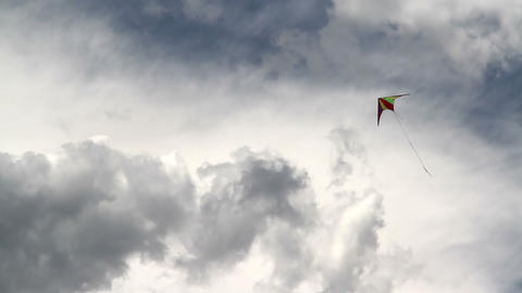Kite and the coming storm 1 Stock Video Footage