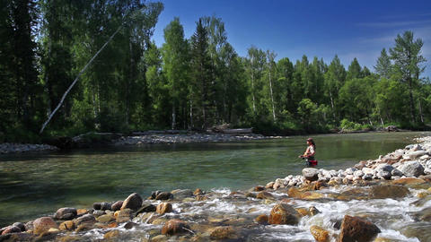 Fly Fishing Stock Video Footage