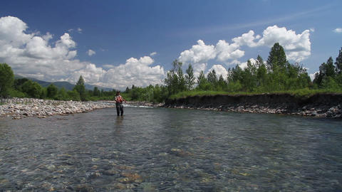 Fly fishing 3 Stock Video Footage