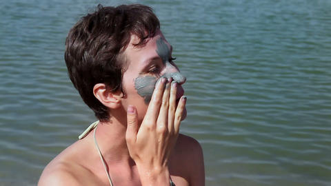 Mud Mask Stock Video Footage
