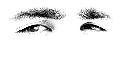 hunk male Handsome Man Eye eyes looking see Stock Video Footage