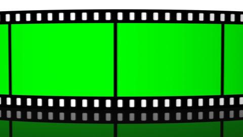 green screen Film roll strip filmstrip reel cinema projection camera Animation
