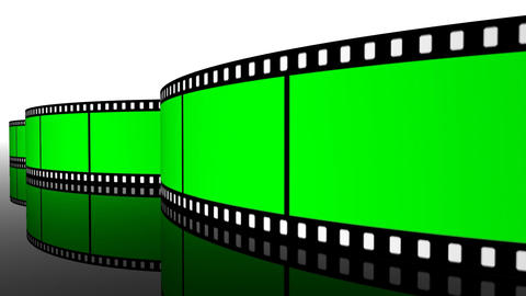 green screen Film roll strip filmstrip reel cinema projection camera Animation