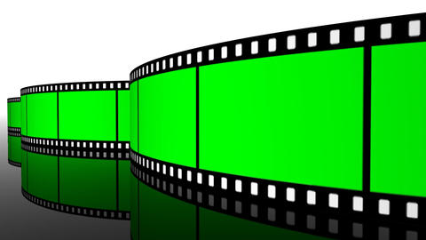 green screen Film roll strip filmstrip reel cinema... Stock Video Footage
