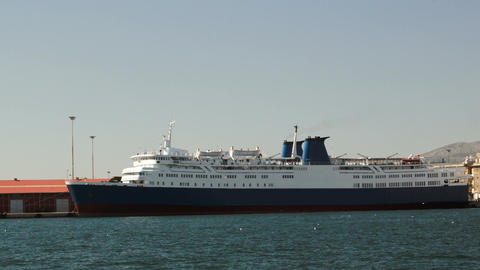 Anchored cruise ship Footage