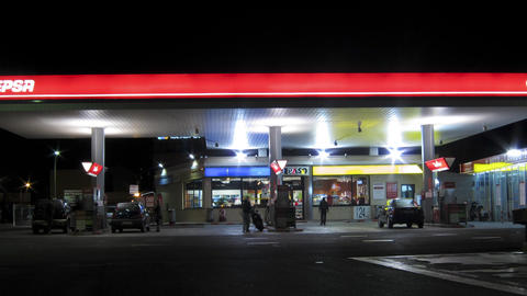 Gas Station Time lapse Footage
