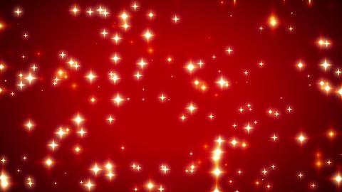 Warm Sparkling Red Stars Vignette Background 1 Animation