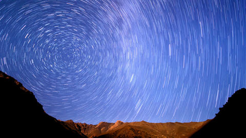 Light Of The Moon And The Milky Way. Line. Time La stock footage