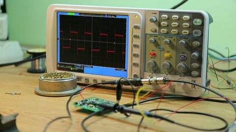Oscilloscope in the laboratory Footage