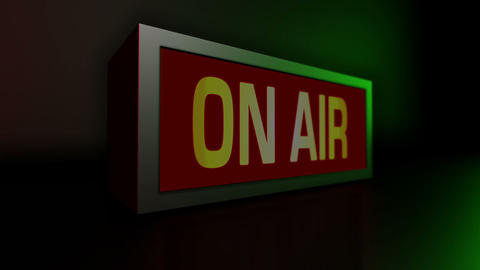 ON AIR Sign stock footage