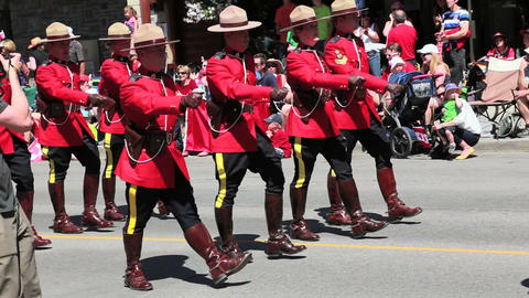 Royal Canadian Mounted Police on parade Footage