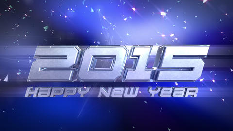 New Year 2015 Countdown Animation stock footage