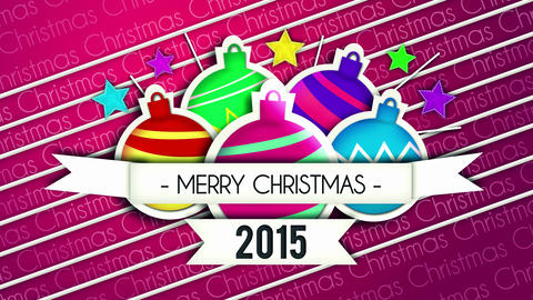 Baubles Bounce Christmas Greeting 2015 - 4K Resolu Animation