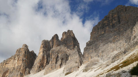 Time Lapse Clouds Over Tre Cime De Lavaredo 11535 stock footage
